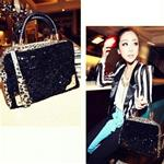 Black Sequin City Girl Bag