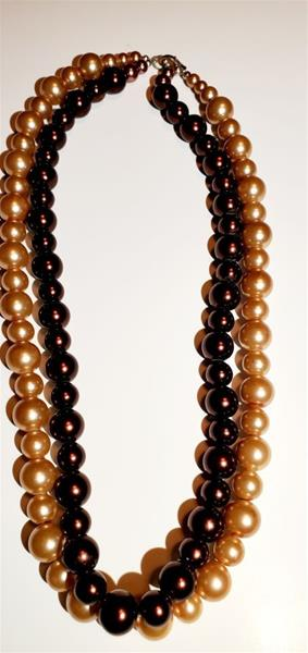 Blush and Deep Brown Beads Necklace