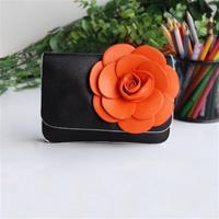 Black Retro Floral Clutch