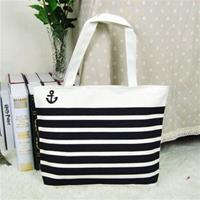 Black Stripe Nautical Hand Bag