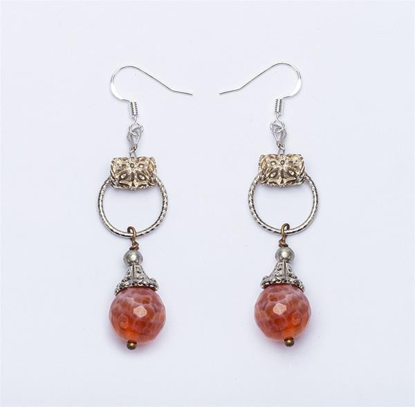 Apricot Bead Earrings