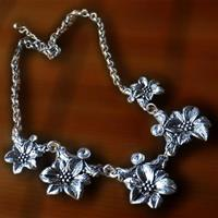 Flower Mirror Necklace