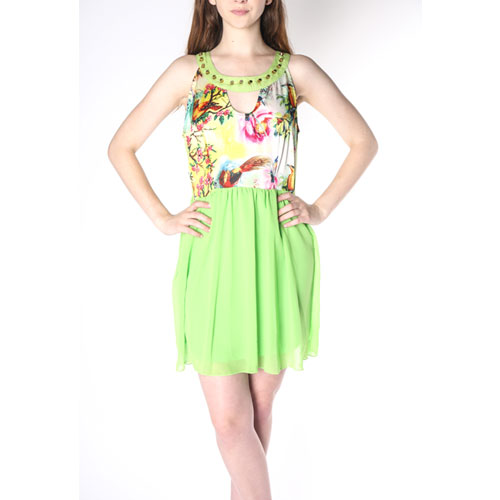 Lime Green Baby Doll Dress