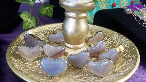 Mighty Heart Agate Rings