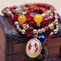 Multi Crystal and Charms Bracelet