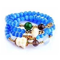 Natural Crystal and Opal Bracelet
