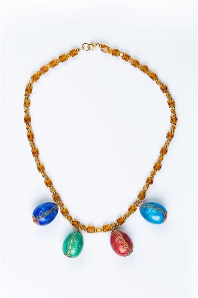 Amber Beads with Indonesian Eggs Necklace