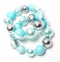 Aqua Bauble Bracelet Set