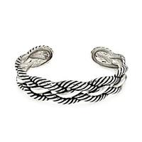 Brass Rope Design Cuff Bracelet