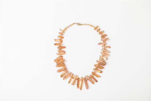 Citrus Electroplated Quartz Necklace