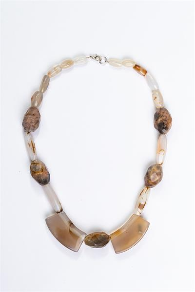 Earthy Agate Rock Necklace