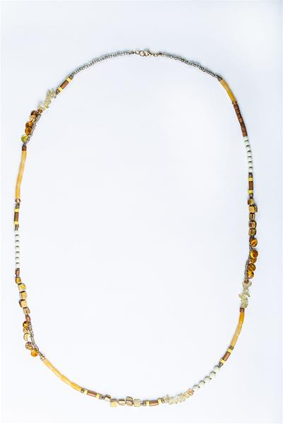 Earthy Yellow Beads Necklace