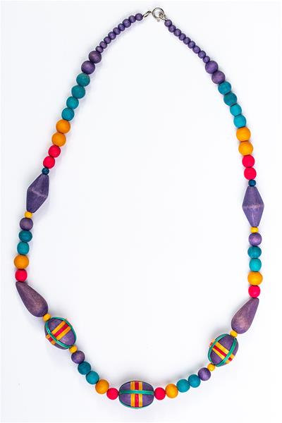 Festive Colored Dyed Woods Necklace