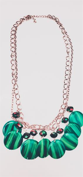 Festive Green Charms Necklace