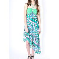 Bright Green Halter Dress