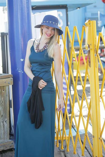 Teal Green Tank and Skirt Set